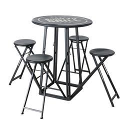 Zestaw mebli stół i 4 stołki