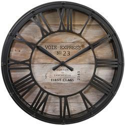 Zegar ścienny vintage brązowy 39 cm