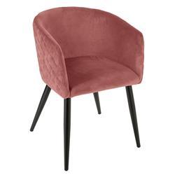 Krzesło Marlo Velvet różowe