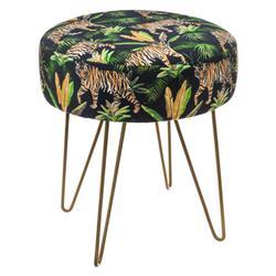 Dekoracyjny stołek Jungle 40 cm wzór 1