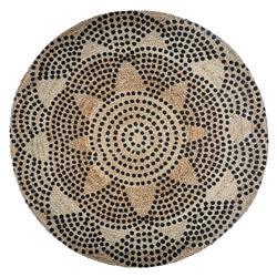 Okrągły dywan jutowy 120 cm wzór 2
