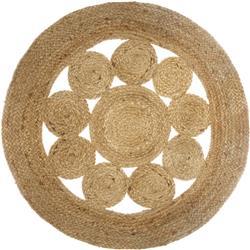 Okrągły dywan jutowy Lace 80 cm