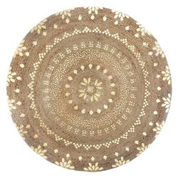 Okrągły dywan jutowy 115 cm