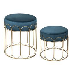 Komplet 2 stołków Feel Velvet
