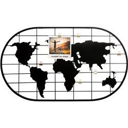 Metalowa ramka na zdjęcia kula ziemska