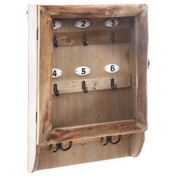 Drewniana skrzynka na klucze 26x38 cm