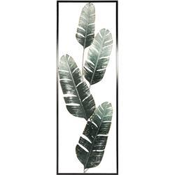 Metalowa ozdoba ścienna liście 31x89 cm