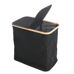Kosz na pranie dwukomorowy czarny
