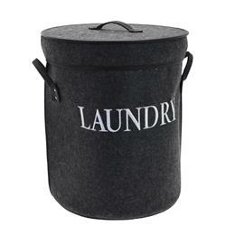 Kosz na pranie filcowy czarny