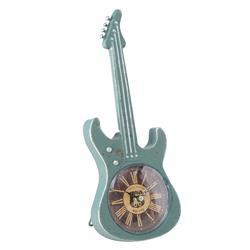 Zegar stołowy w kształcie gitary zielony