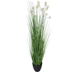 Kwitnąca sztuczna trawa w donicy wzór 3
