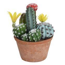 Sztuczny kaktus w donicy z terakoty