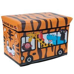 Pojemnik na zabawki z pufą Safari Bus
