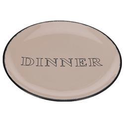 Talerz obiadowy Dinner beżowo szary