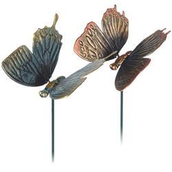 Ozdoba ogrodowa motyl - komplet 2 szt