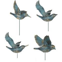 Ozdoba ogrodowa ptaszki niebieskie 4 szt