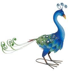 Paw ogrodowy zdobiony niebieski