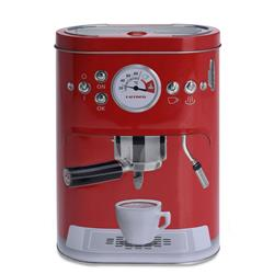 Puszka ekspres do kawy czerwona 19 cm