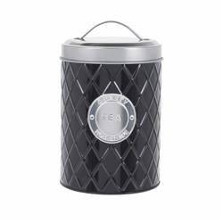 Pojemnik metalowy czarny na herbatę