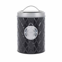 Pojemnik metalowy czarny na kawę