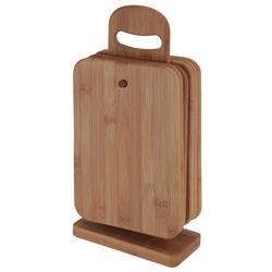 Zestaw desek bambusowych na stojaku