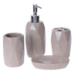 Beżowy komplet łazienkowy Dolomit