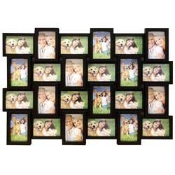 Ramka ścienna na 24 zdjęć 10x15 - czarna