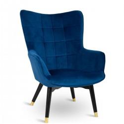 Fotel Grella Royal Blue Blak Gold