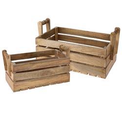 Skrzynie drewniane 2 sztuki mango KPL