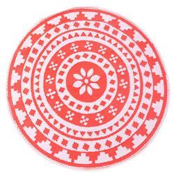 Mata podłogowa 150 cm czerwona wzór 1