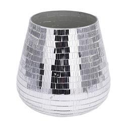 Świecznik srebrny mozaika 15 cm