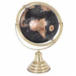 Dekoracyjny globus świata czarny 38 cm