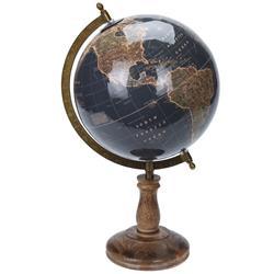 Dekoracyjny globus świata granat 38 cm