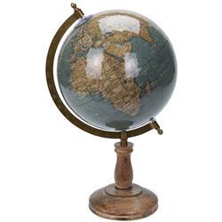 Dekoracyjny globus świata turkus 38 cm