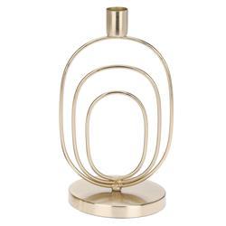 Świecznik metalowy złoty Glamour 21,5 cm