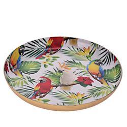Patera okrągła Jungle Papugi