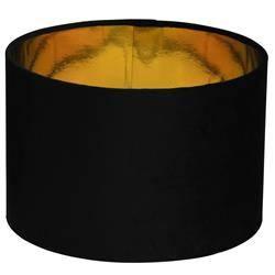 Abażur do lampy welurowy czarny