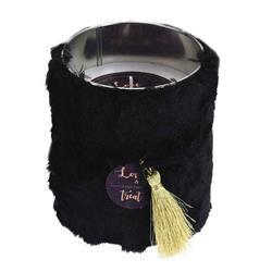 Świeca czarna w stylu Glamour 12 cm