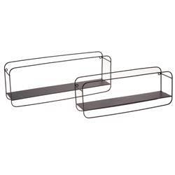 Komplet metalowych półek ściennych 2 szt