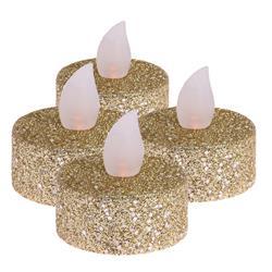 Komplet świec Tealight Led złote 4 szt