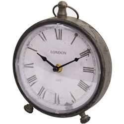 Brązowy zegar stołowy w stylu vintage