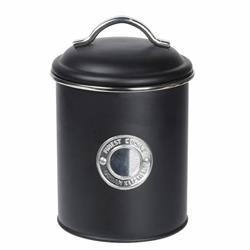 Puszka metalowa czarna 18x13 cm