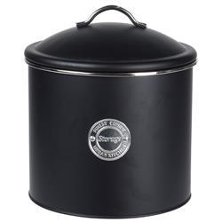 Puszka metalowa czarna Storage 21x18 cm