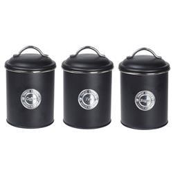 Pojemniki kuchenne metalowe kpl. 3 szt