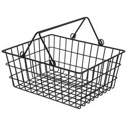 Koszyk druciak metalowy loft z rączką