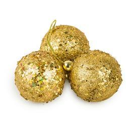 Bombki choinkowe złote 3 szt wzór 2