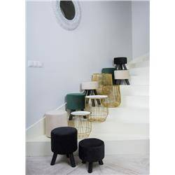 Pufa stołek Velvet na trzech nogach