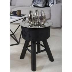 Pufa stołek Velvet butelkowa zieleń