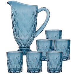 Dzbanek i szklanki - komplet niebieski