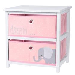 Komoda dla dzieci z szufladami różowa